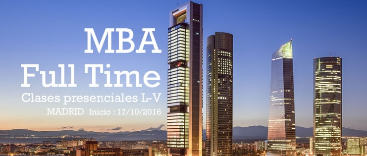 mba full time en Madrid