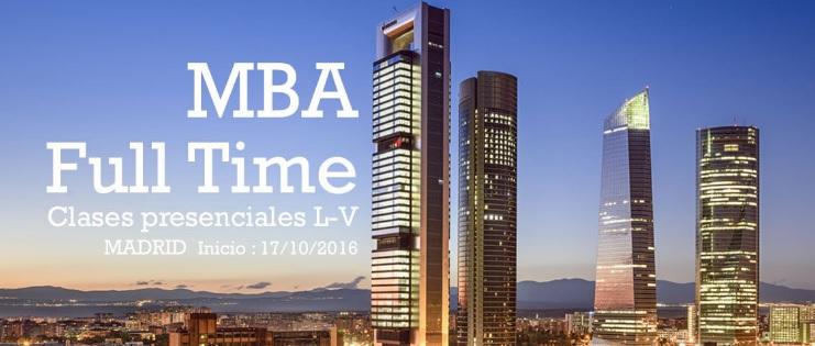 mba full time en Madrid