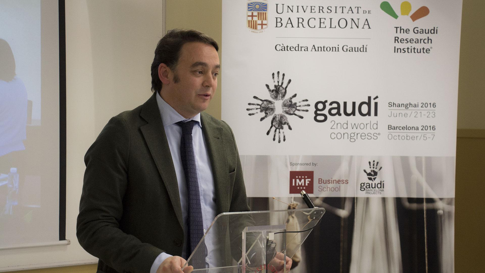 carlos-martinez-patrocinio-catedra-gaudi IMF Business School presenta su patrocinio a la Cátedra Gaudí