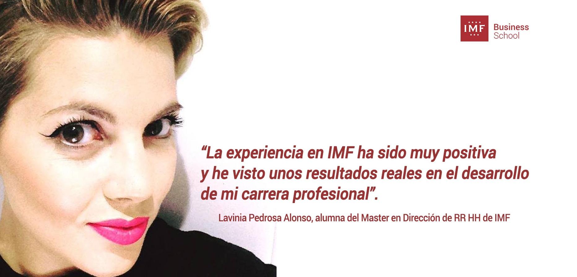 alumna-imf-2 Entrevista Alumni: Lavinia Pedrosa, alumna del Master en RRHH
