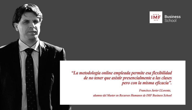 alumno-imf-rrhh Entrevista alumni: F. Javier Llorente, alumno del Master en Recursos Humanos
