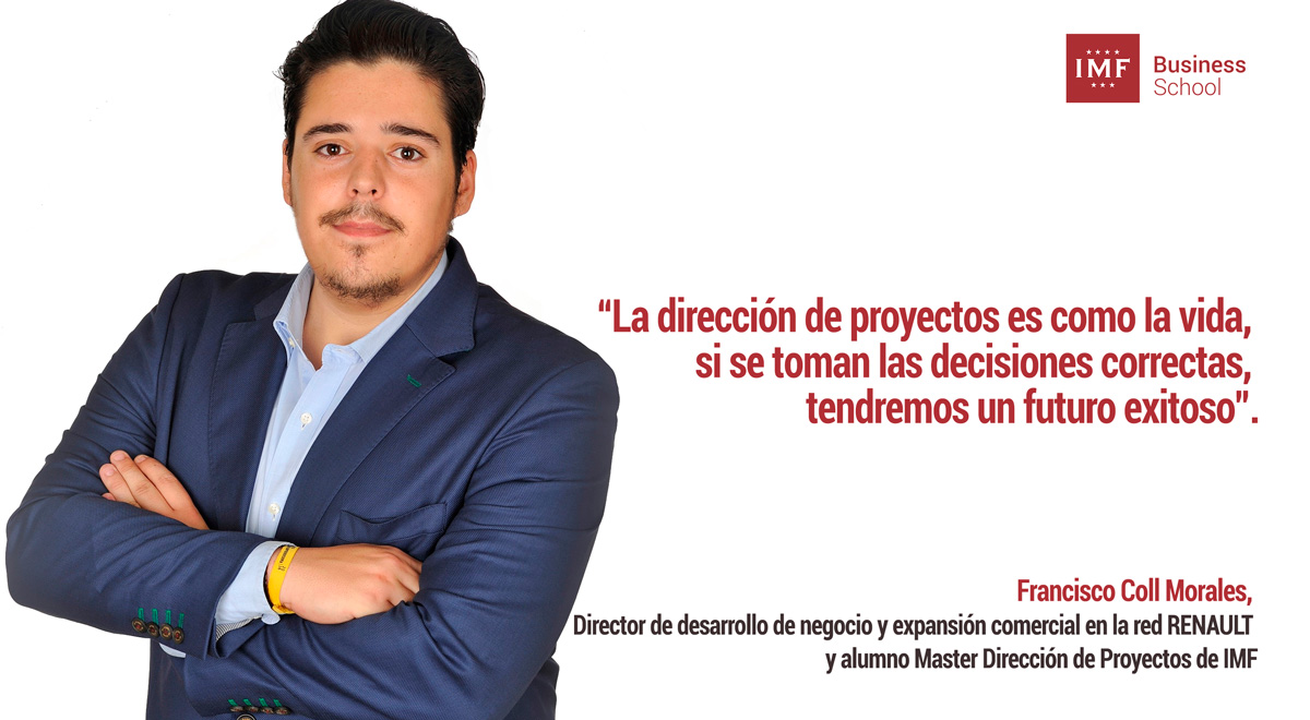alumno-proyectos ¿Por qué estudiar un Master en Dirección de Proyectos? Francisco Coll Morales, alumno de IMF, responde