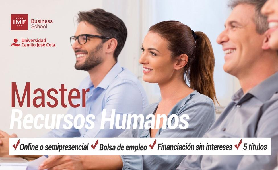 Master en Dirección y Gestión de Recursos Humanos de IMF