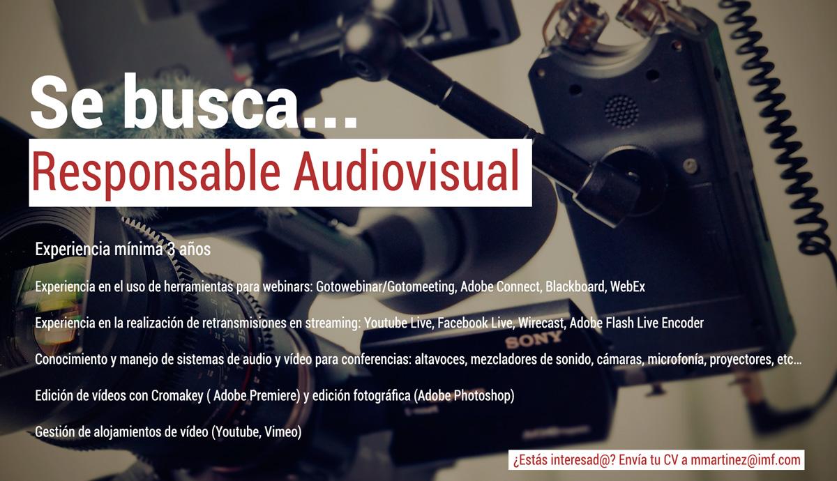 Oferta de empleo Responsable Audiovisual en IMF