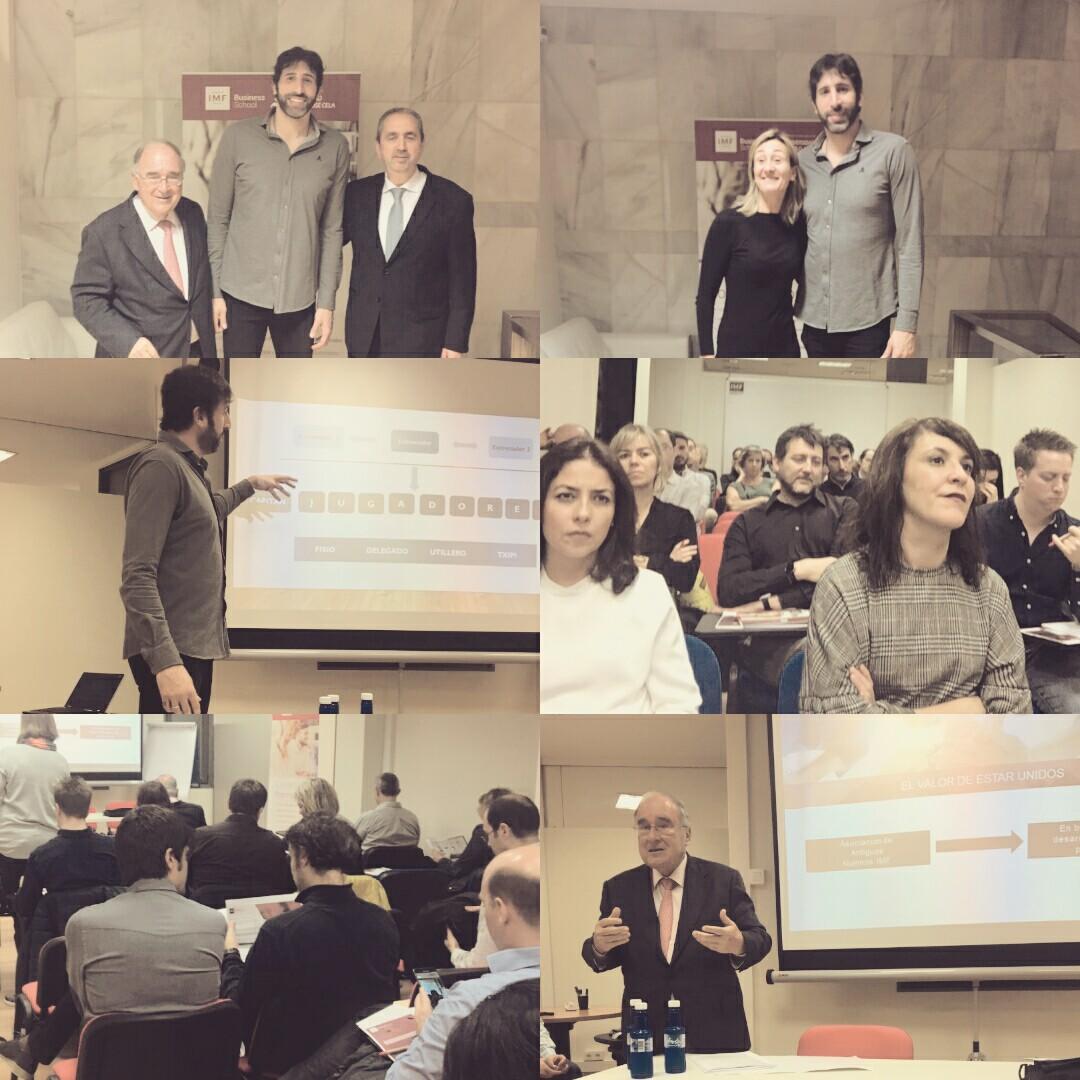 Álex Mumbrú partícipe en el exitoso encuentro de Antiguos Alumnos de IMF Bilbao