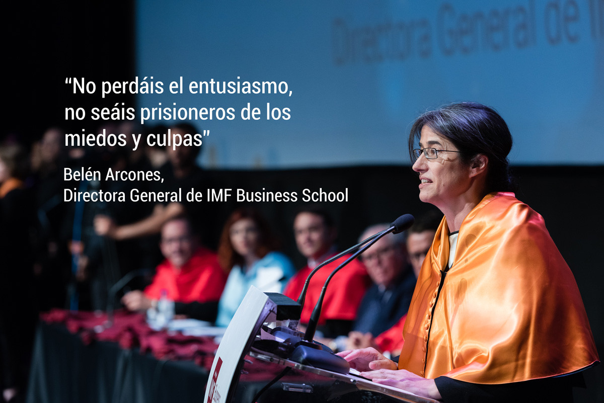 belen-arcones-frases Belén Arcones, Directora General de IMF, ofrece el discurso más emotivo en la Graduación