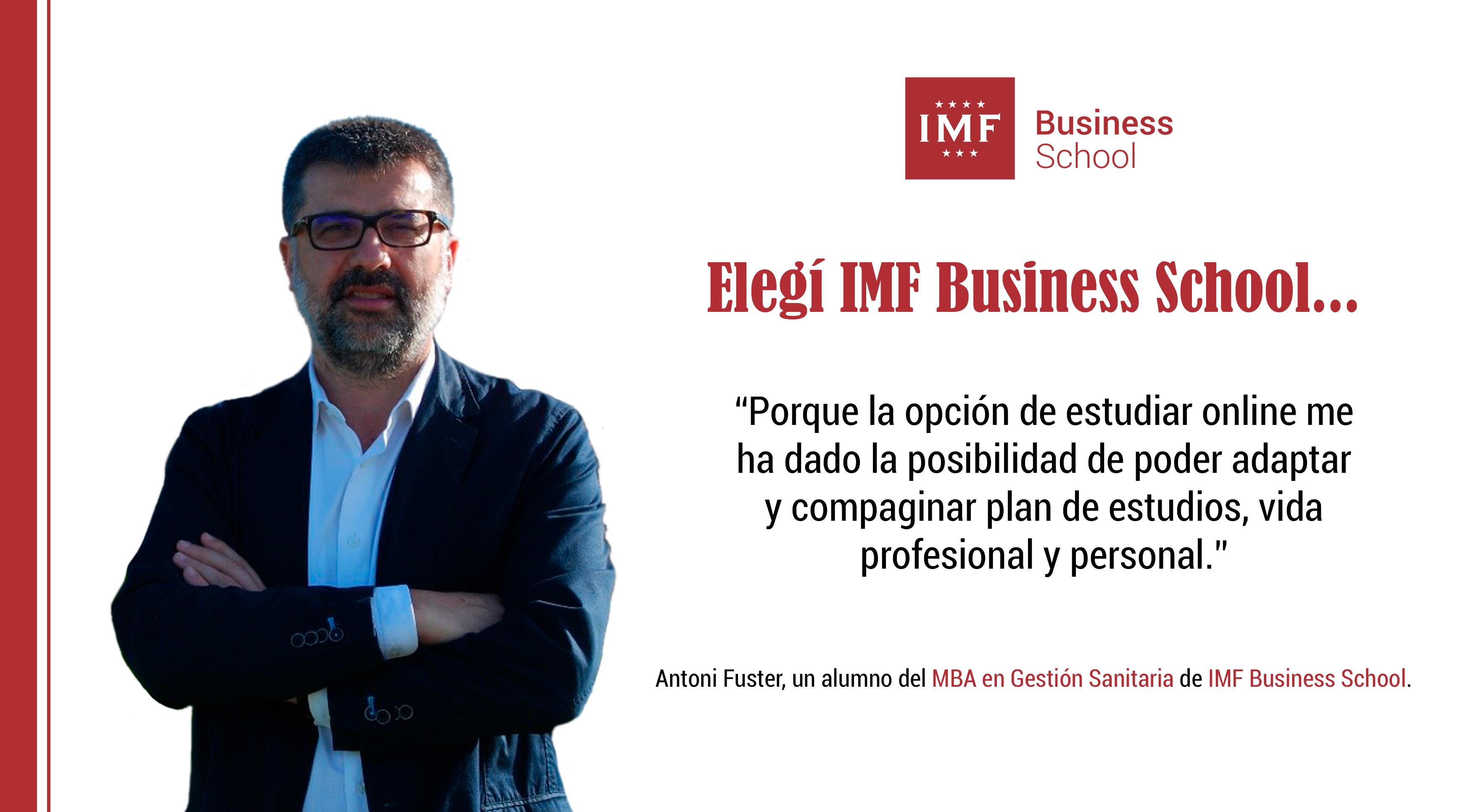 Opinión Alumni: Antoni Fuster, alumno de MBA en Gestión Sanitaria