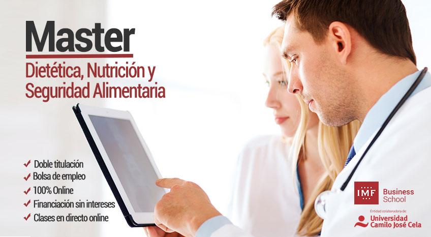 Master en Nutrición, Dietética y Seguridad Alimentaria