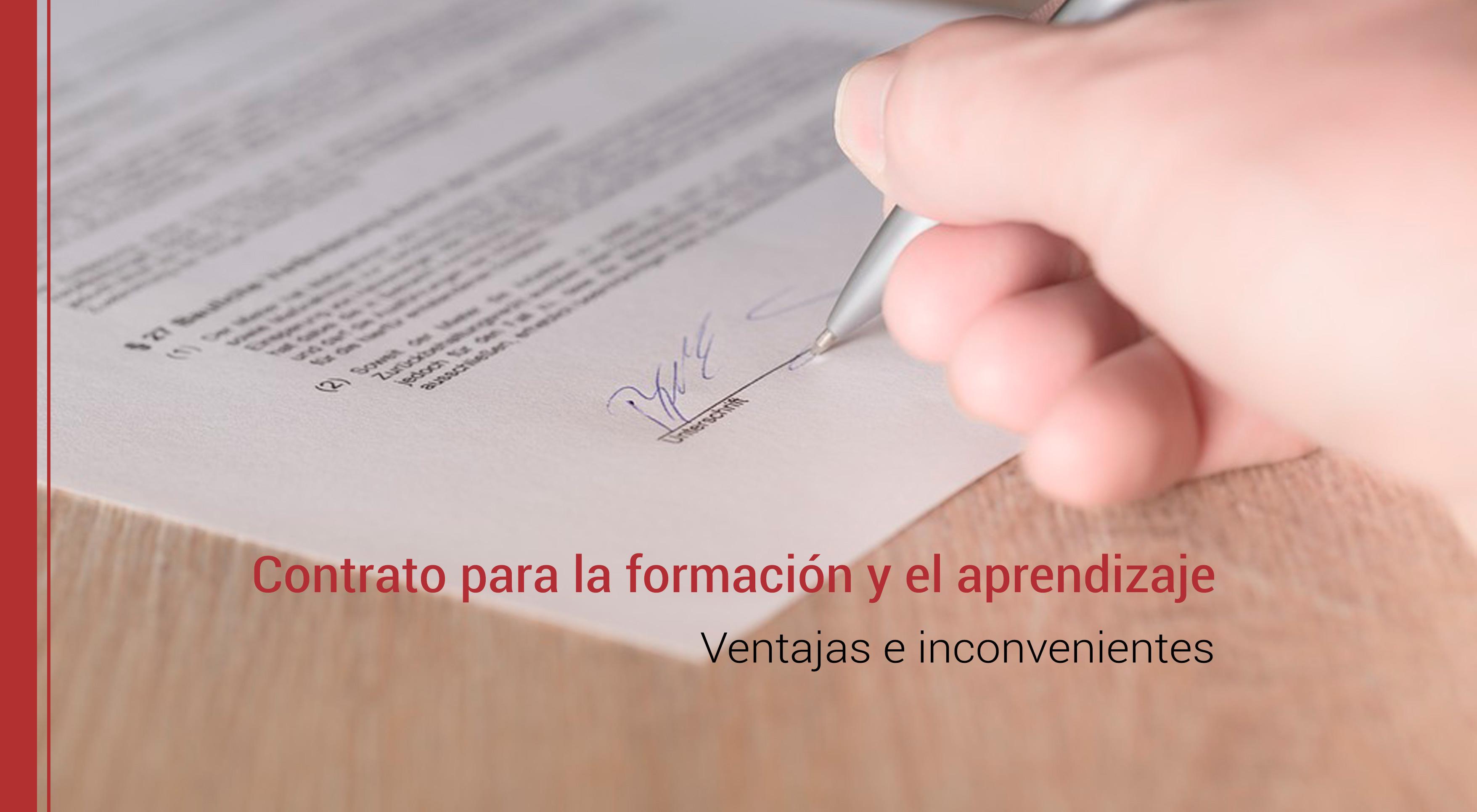 contrato-para-formacion-aprendizaje-ventajas-inconvenientes Contrato para la formación y el aprendizaje: ventajas e inconvenientes