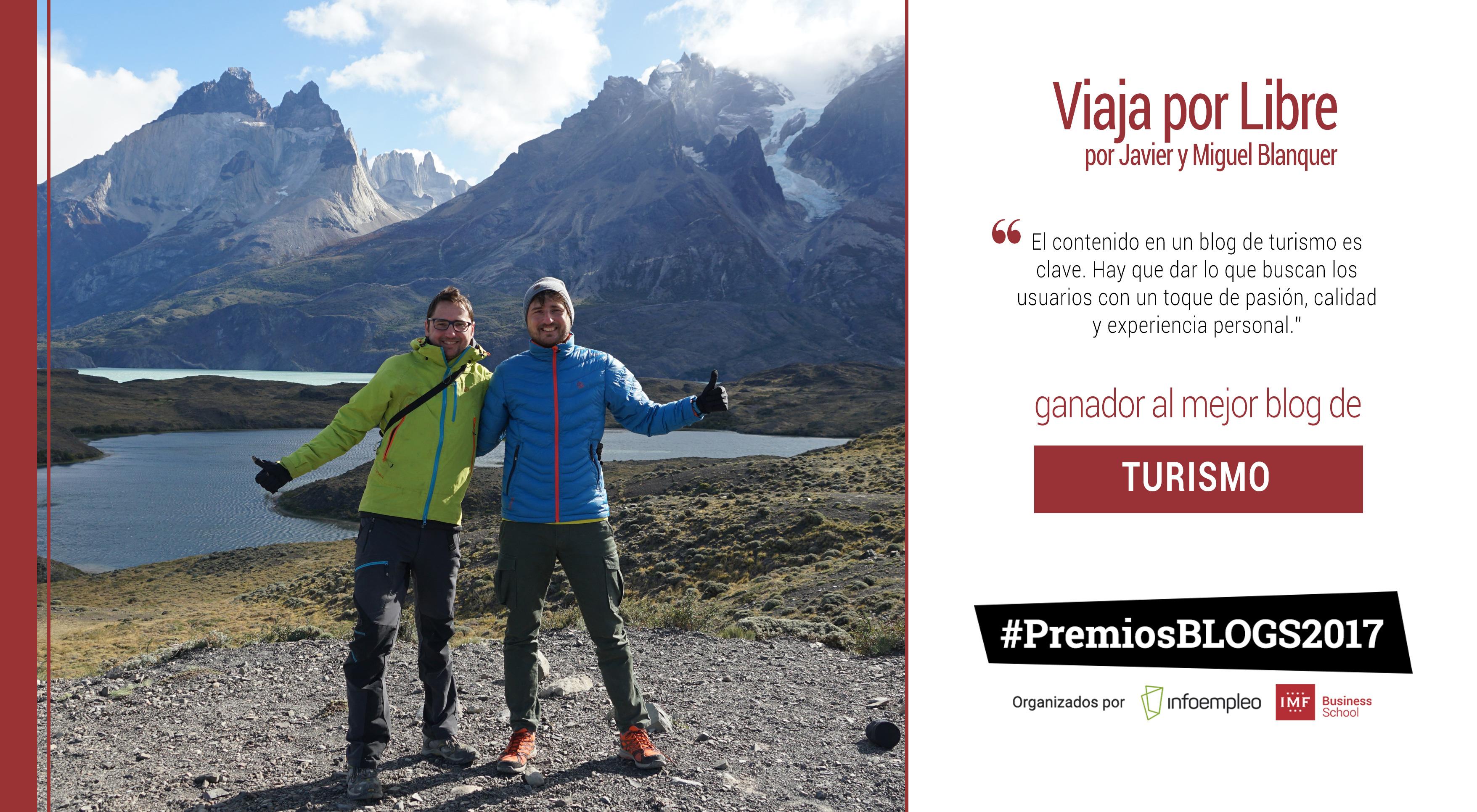 Viaja por Libre, mejor blog de turismo en los #PremiosBlogs2017
