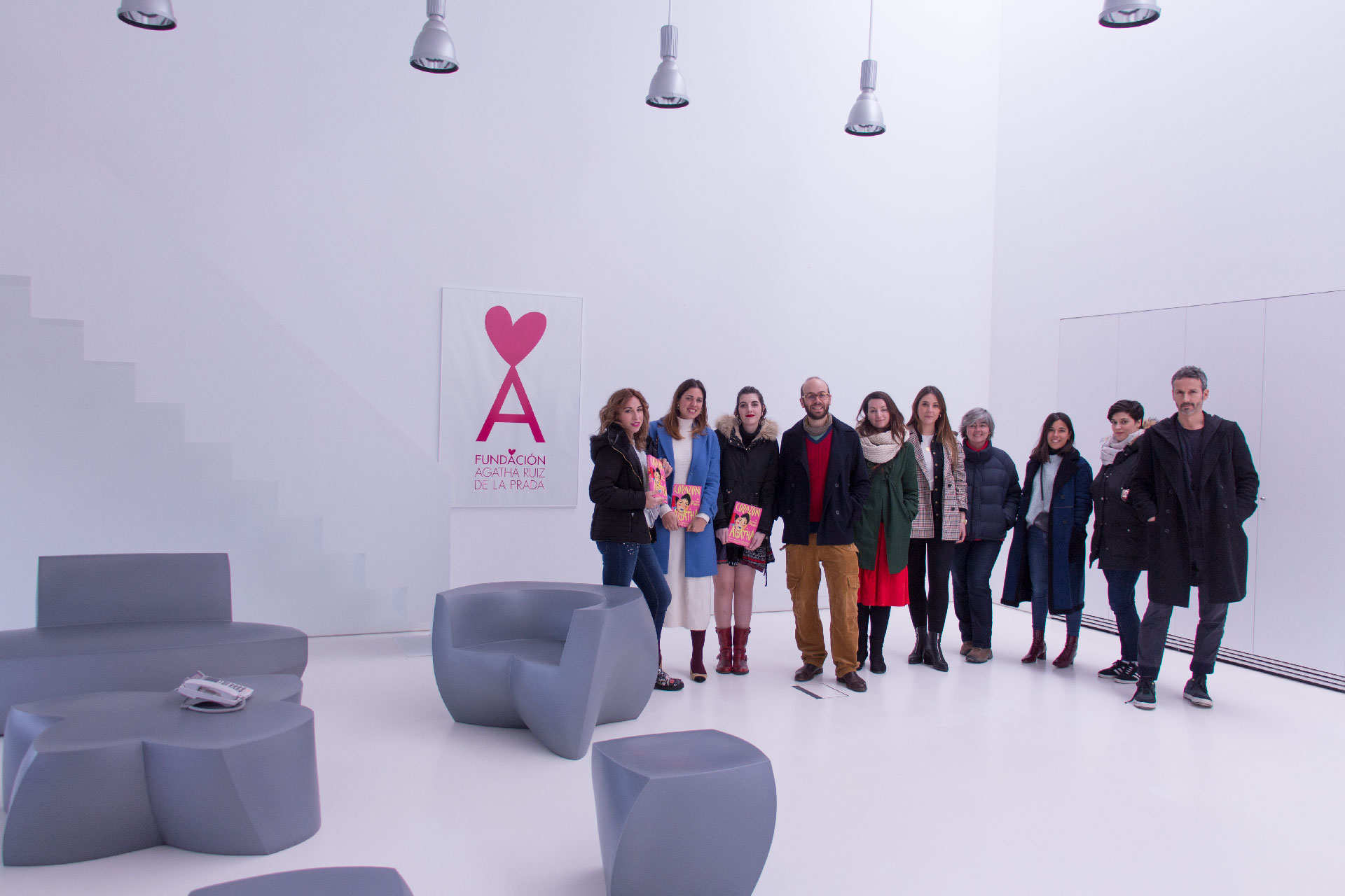 IMG_9133 Alumnos de IMF Business School conocen la Fundación de Agatha Ruiz de la Prada