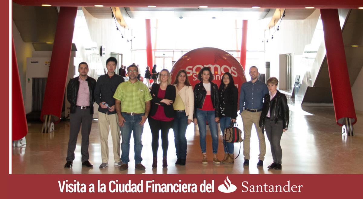 visita a la ciudad financiera del banco santander