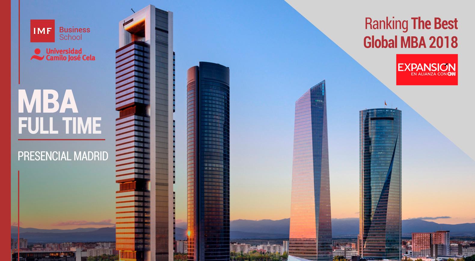 MBA Full Time Madrid, Master Administración y Dirección de Empresas