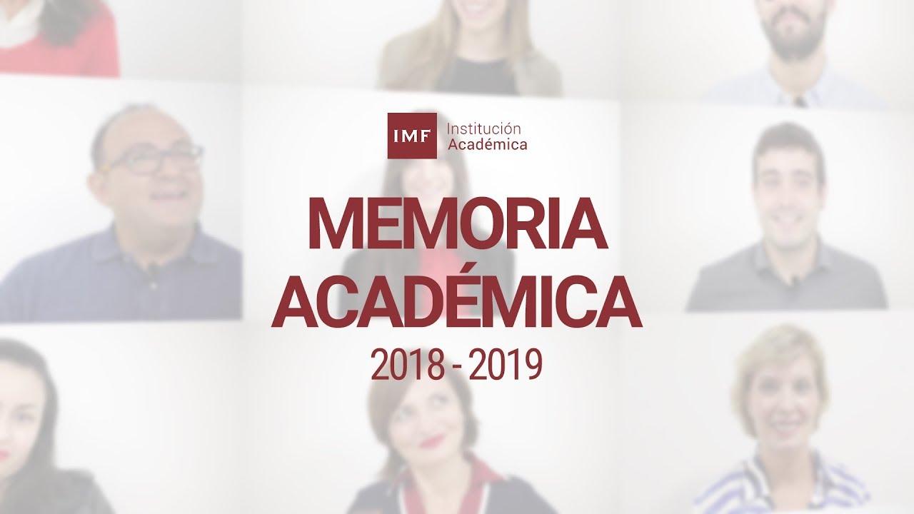 memoria-academica-imf-2019 Lo mejor del curso 2018-2019 de IMF Institución Académica