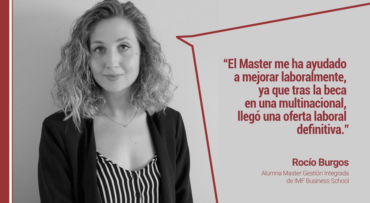 opinion-master-gestion-integrada Rocío Burgos: Mi Master en Gestión Integrada me ayudó a mejorar laboralmente
