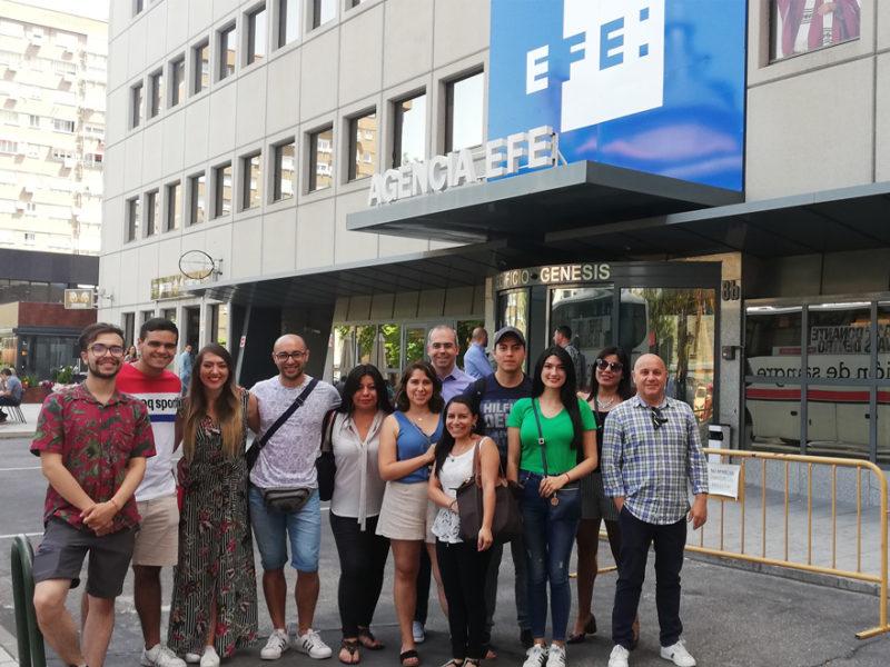 visita-alumnos-museo-efe-800x600 Estudiantes de IMF visitan Agencia EFE, la primera agencia de noticias en español