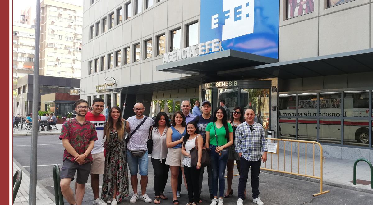 visita-alumnos-museo-efe Estudiantes de IMF visitan Agencia EFE, la primera agencia de noticias en español
