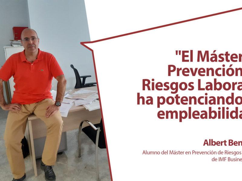 """entrevista-alumno-Albert-Benavent-800x600 Albert Benavent: """"El máster en Prevención de Riesgos Laborales ha potenciando mi empleabilidad"""""""