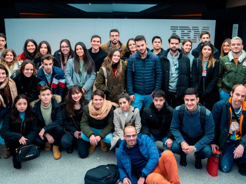 estudiantes-visitan-ibm-españa-800x600 Los estudiantes de IMF visitan la multinacional tecnológica IBM España