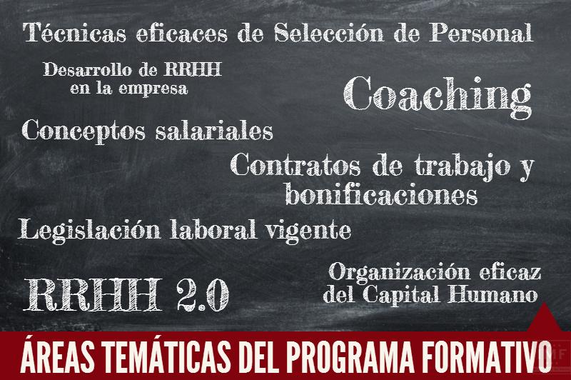AREAS-FORMATIVAS_RRHH Máster Semipresencial de Recursos Humanos en Valencia