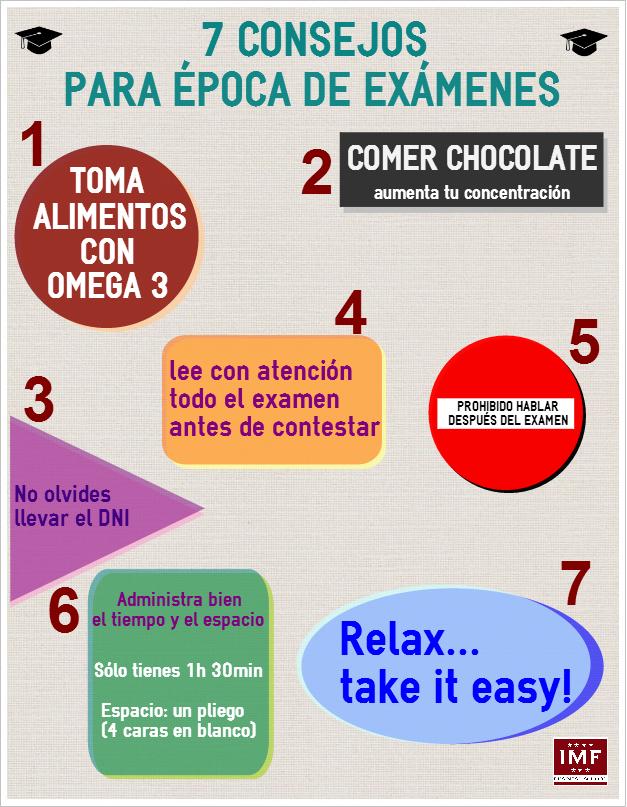 CONSEJOS-EXAMENES Chocolate y selectividad: la mejor combinación