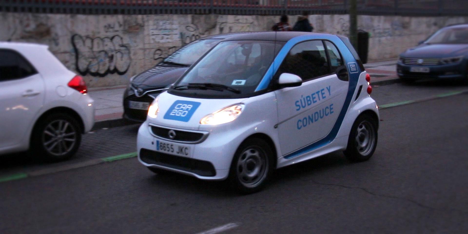 Coche eléctrico CAR2GO en Madrid