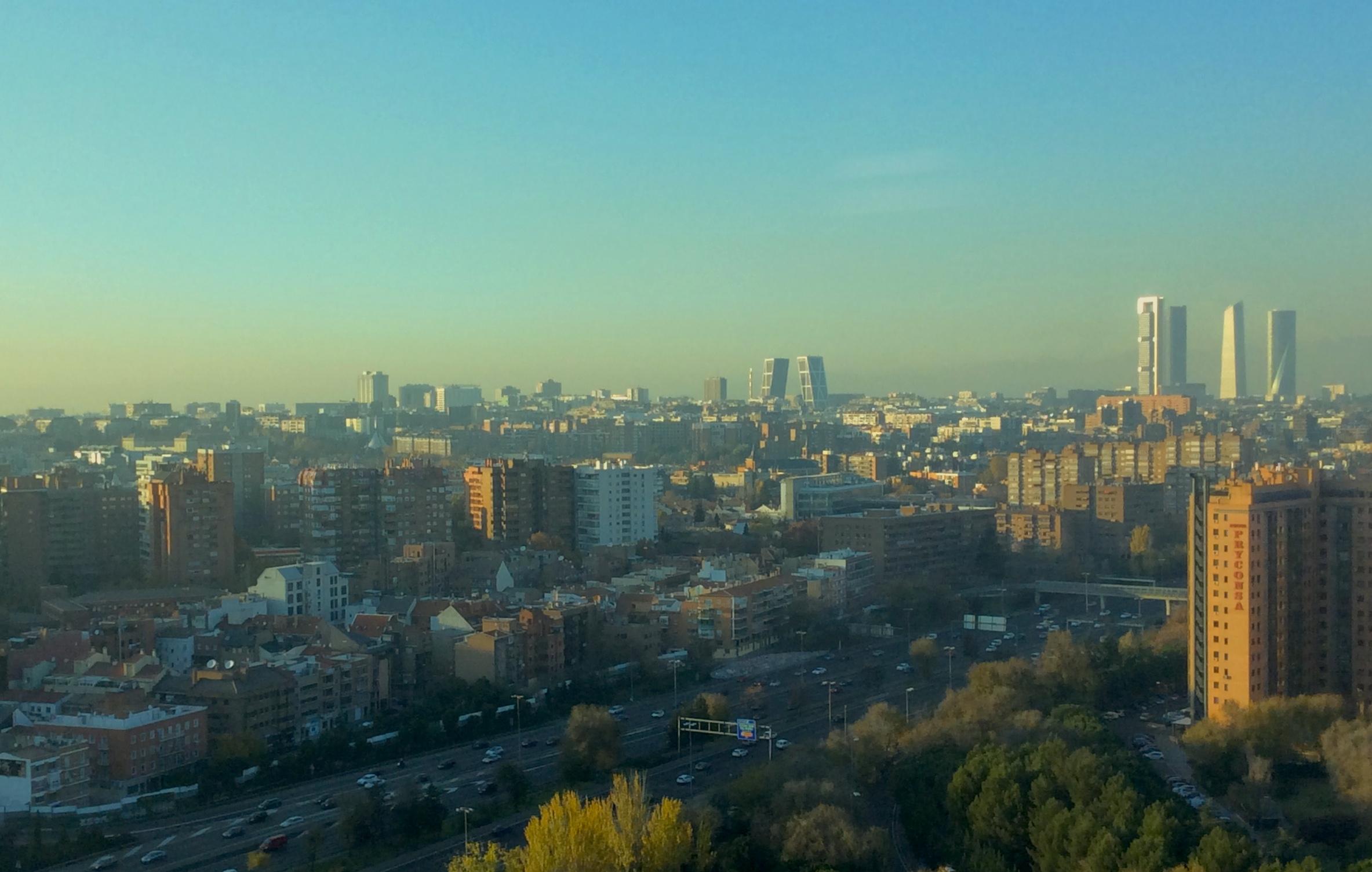 escenario 4 por alta contaminación en Madrid