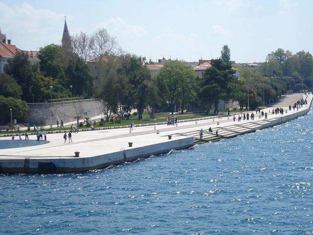 Órgano con energía marina en Zadar, Croacia
