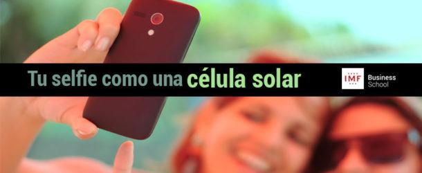 selfie impresa con tinta fotovoltaica