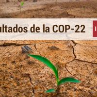 resultados de la cumbre cop22 en marrakech