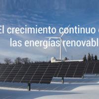 el crecimiento de las energias renovables
