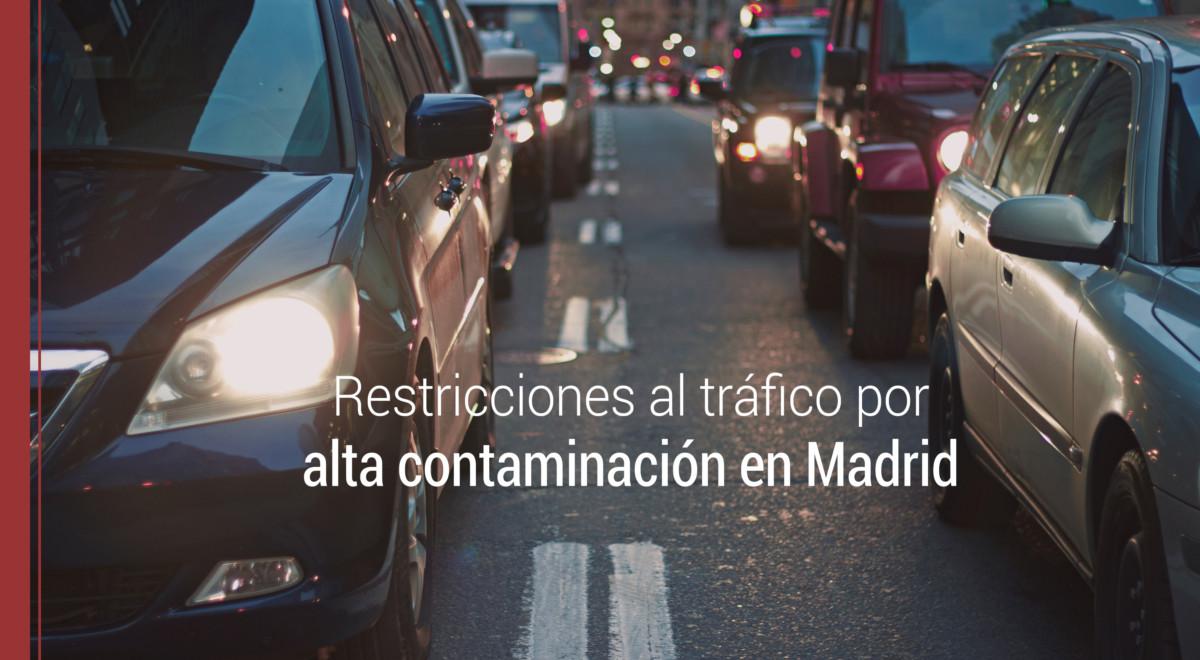 contaminación en madrid y el tráfico