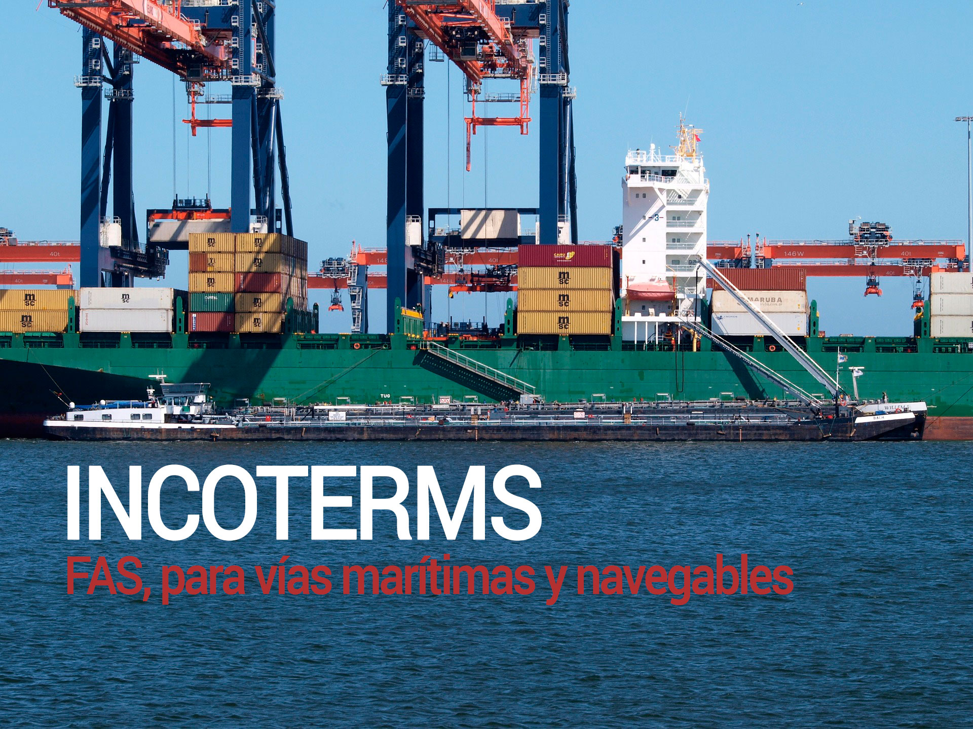 Incoterm FAS, para vías marítimas y navegables