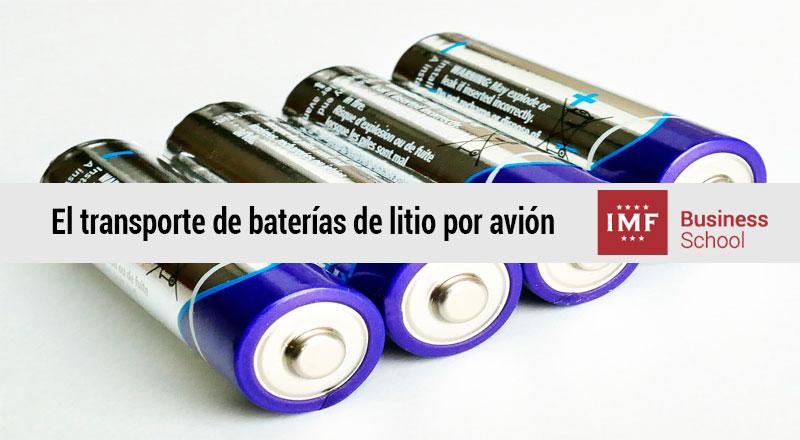 El transporte de baterías de litio por avión