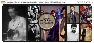 Un fragmento de la página de inicio de la web de la revista GQ: ¿dónde están los textos?