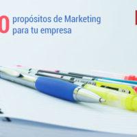 propositos de marketing para la empresa