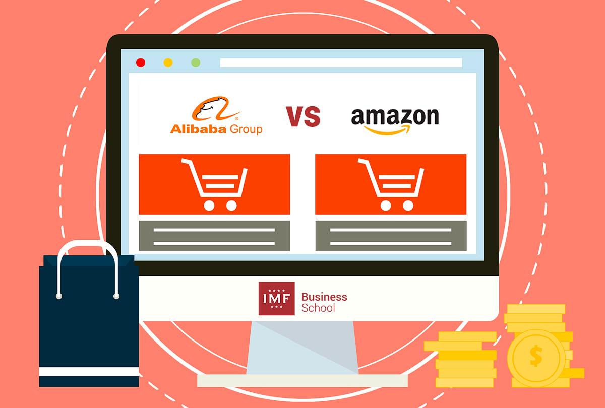 Comercio electrónico Alibaba y Amazon