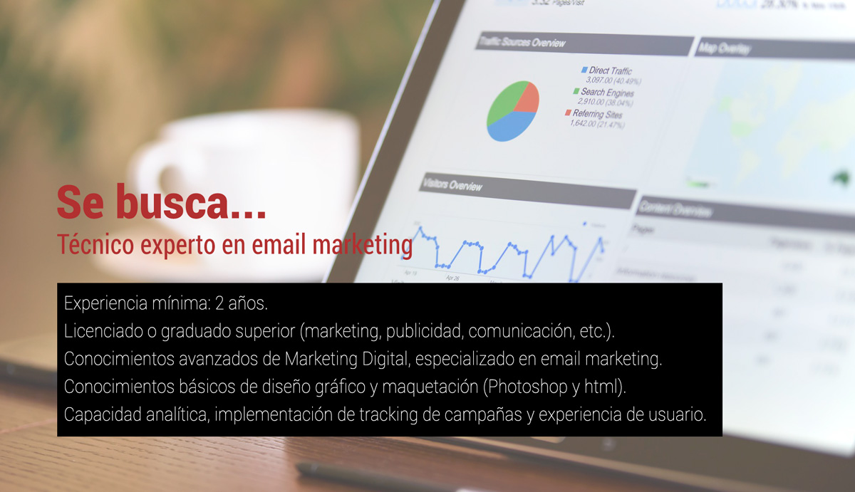 Oferta en experto en email marketing