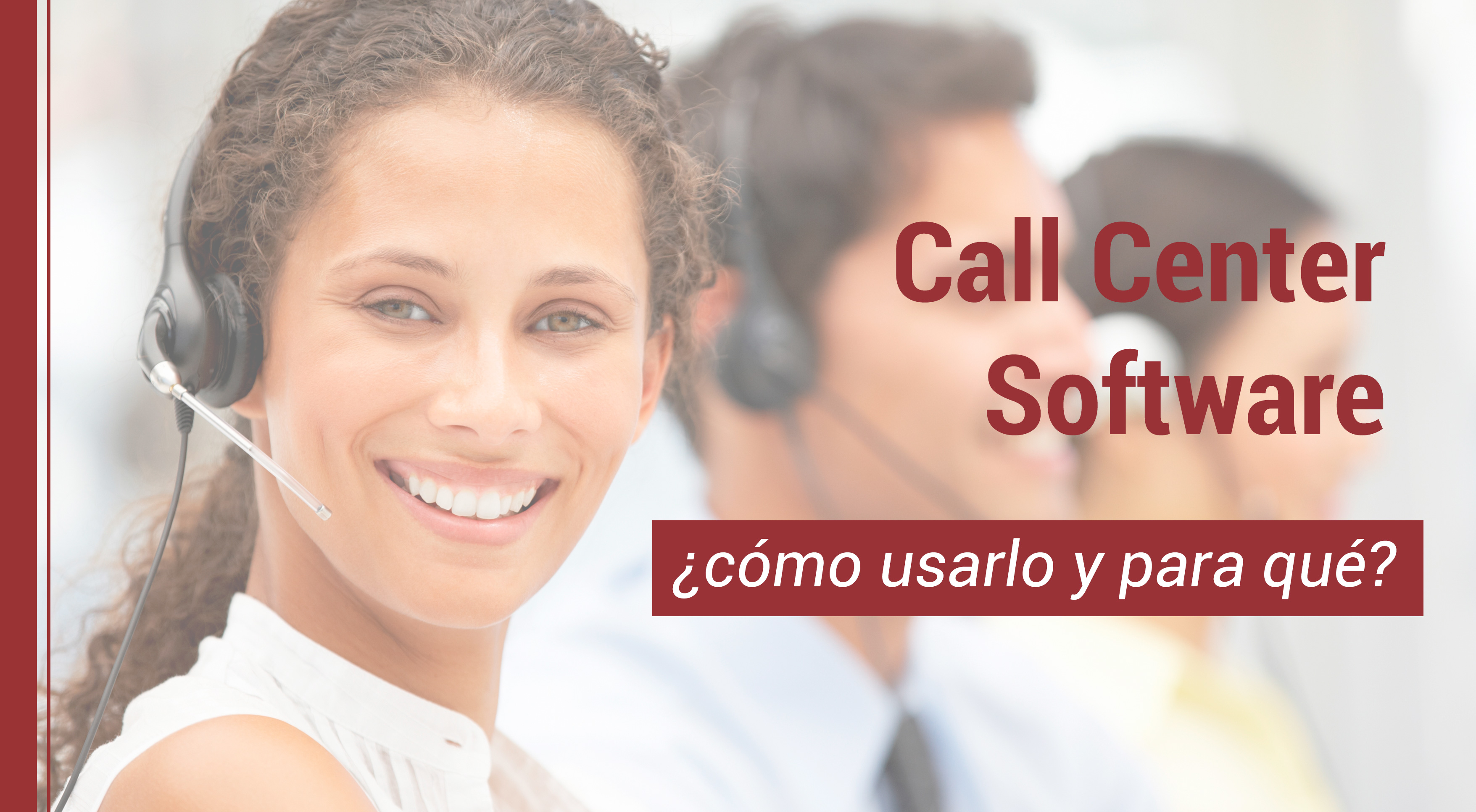 como usar un call center software