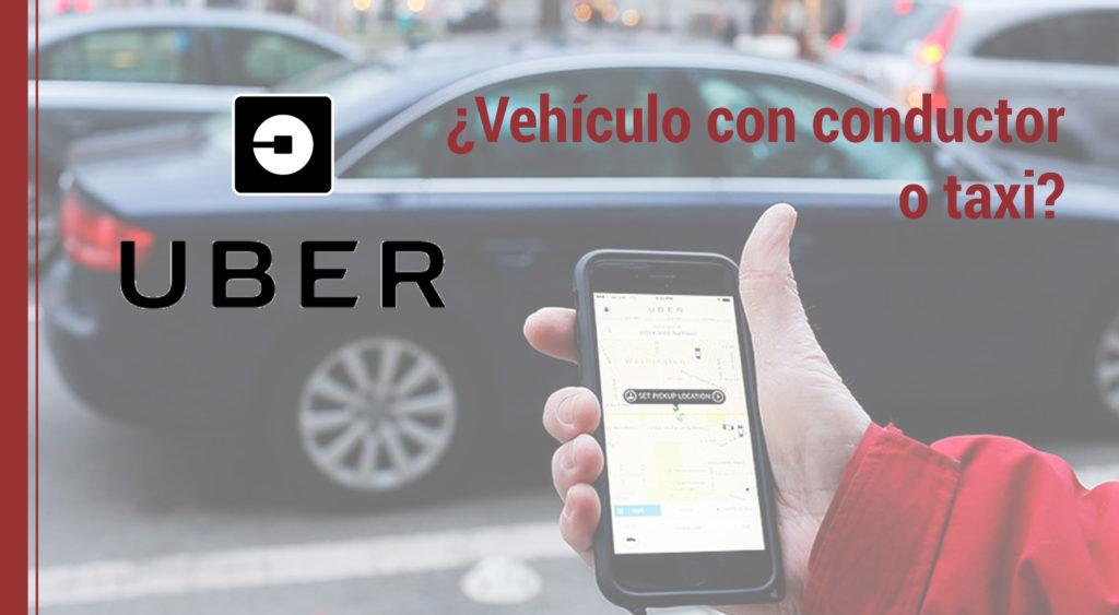 uber como servicio de vehiculo o taxi