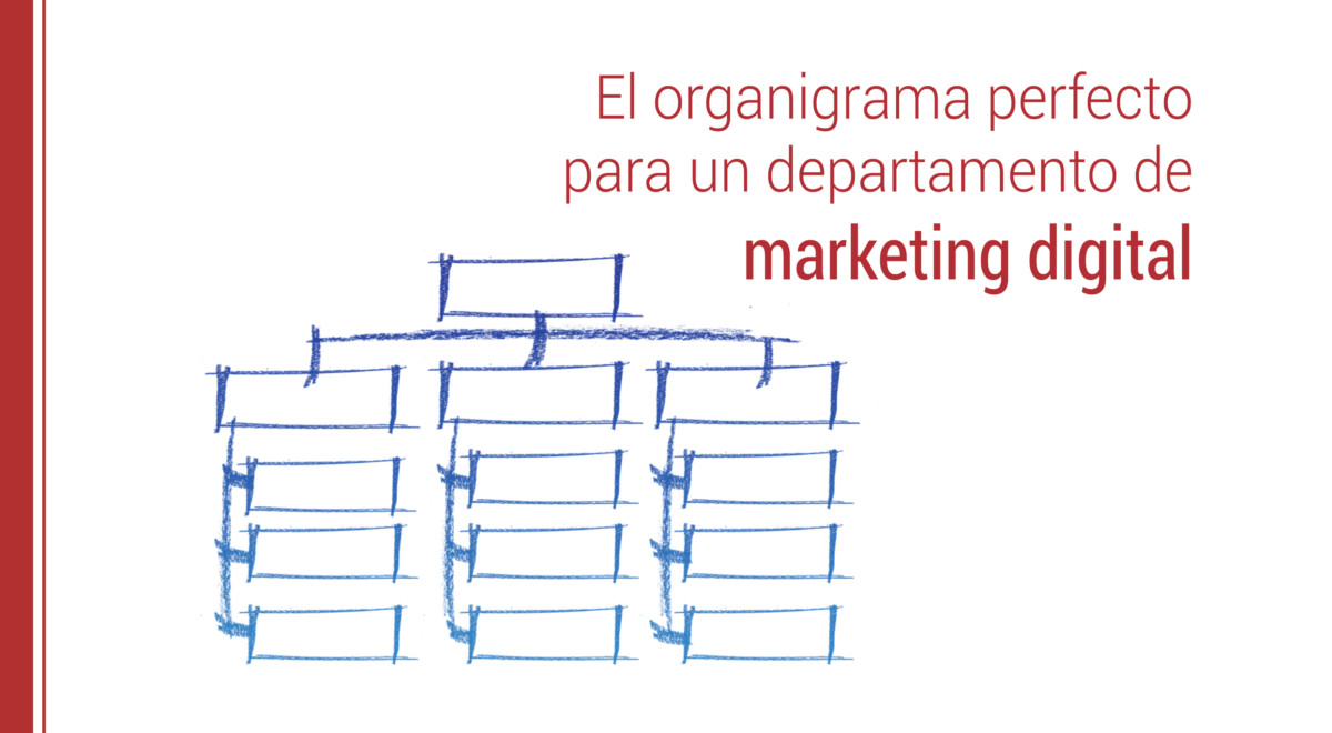 el organigrama del departamento de marketing digital