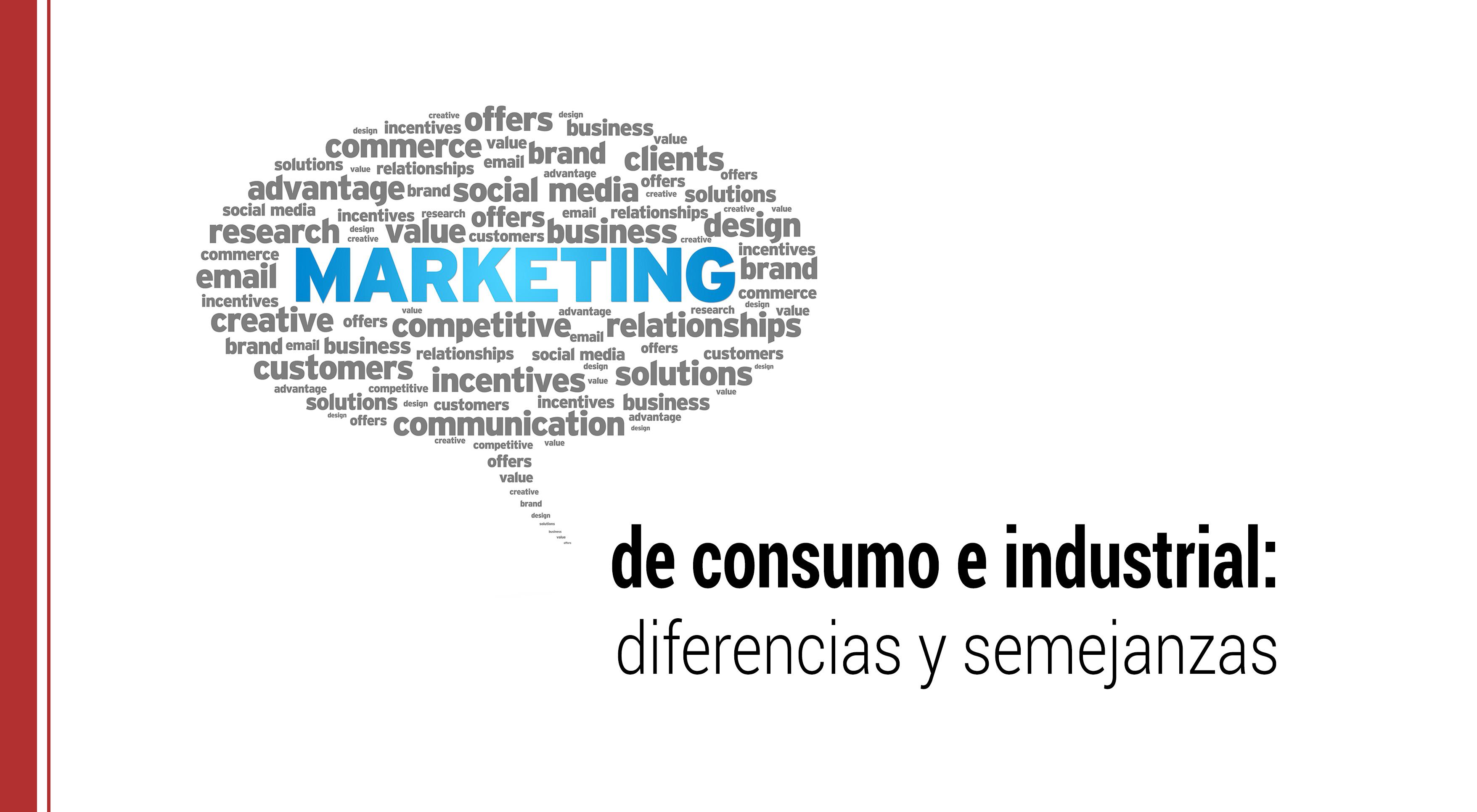 diferencias entre marketing de consumo e industrial