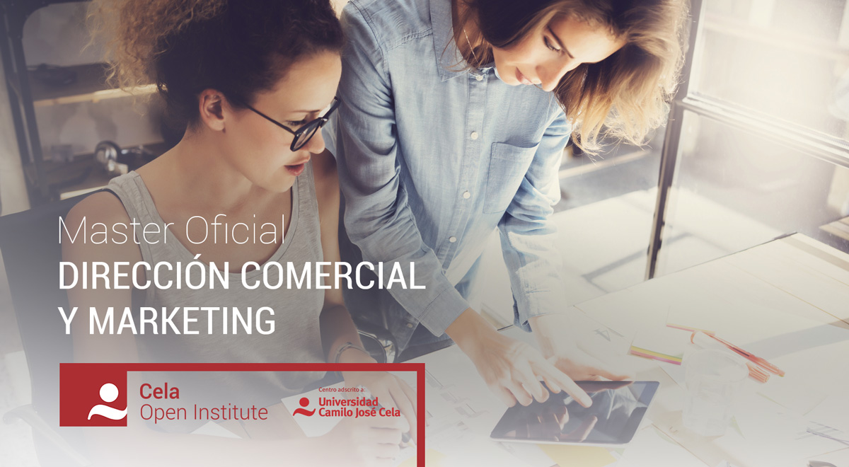 Master en Dirección Comercial y Marketing Online Cela Open Institute