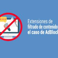 caso adblock como filtrado de contenido web