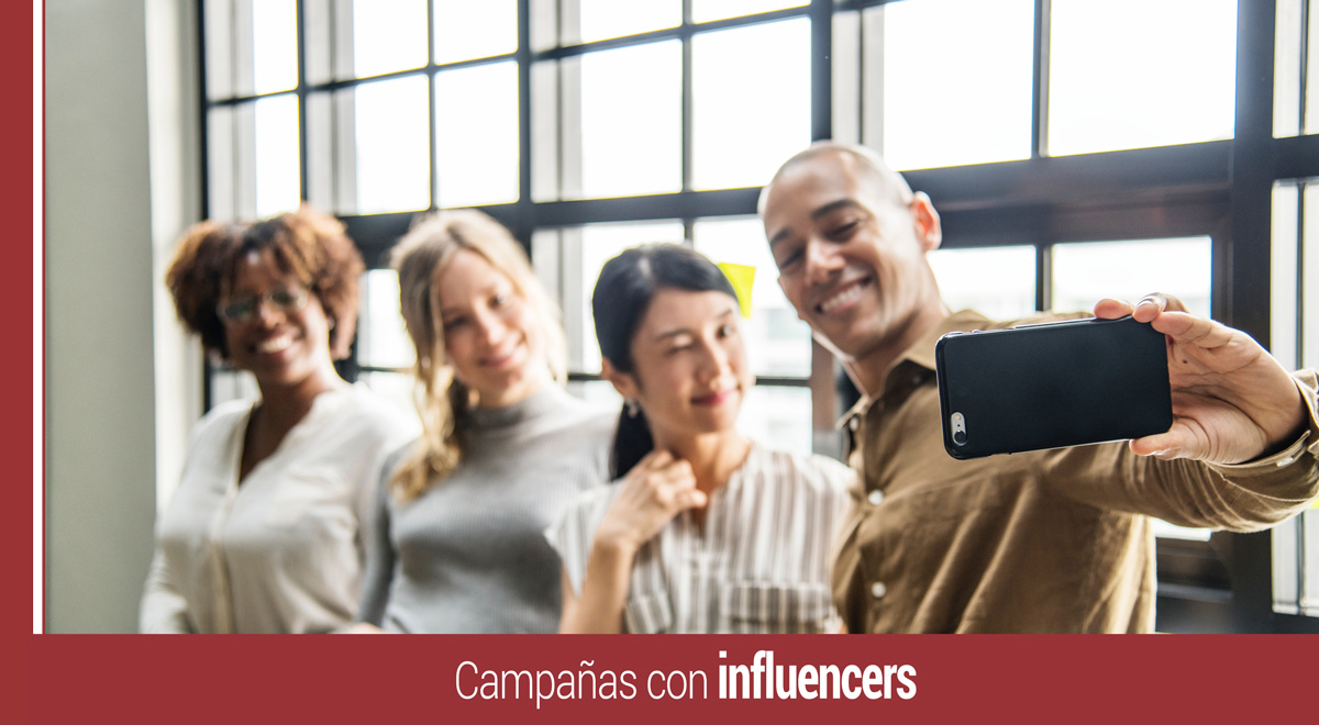 campana digital con influencers