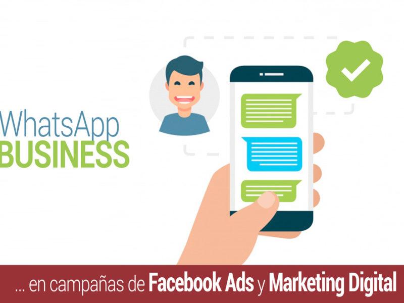 whatsapp business en campanas de facebook ads