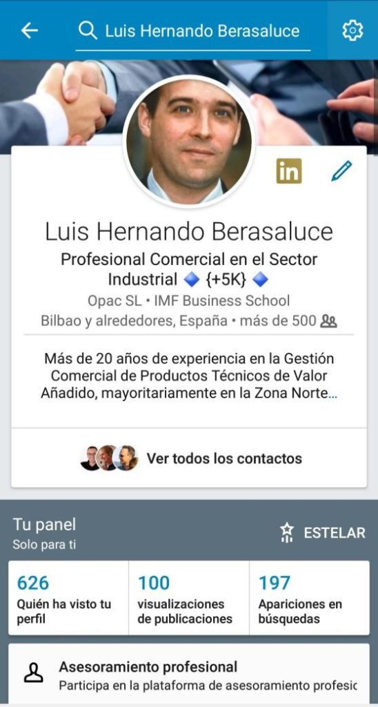 Perfil Linkedin customer centric