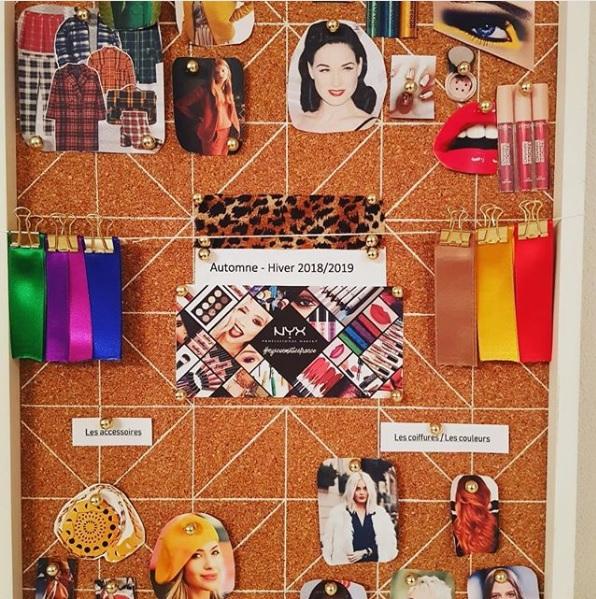 ejemplo de mood board de maquillaje