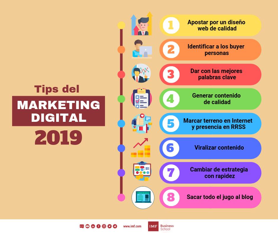 consejos del marketing digital 2019