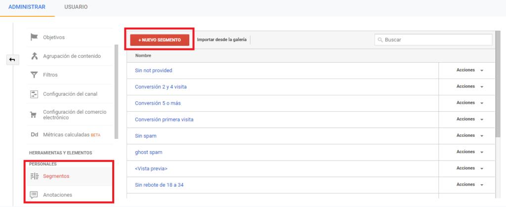 segmentacion google analytics